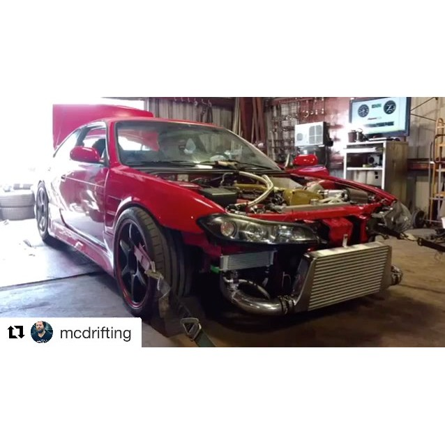 Another #RawBrokerage built #RB being tuned by yours truly #RSEnthalpy. | Repost @mcdrifting with @repostapp・・・On the rollers with @rsenthalpy again. This time dialing in the fresh 2.8 stroker RB and single setup built at @rawbrokerage