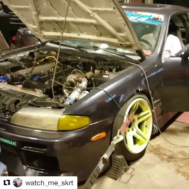 #RSEnthalpy #Repost @watch_me_skrt with @repostapp・・・Here it is dyno pull on the new motor. Came and made 3 hp more this time lol ill take that and this motor actually did alot better on bottom end did pulled more  out there so win win!! 317 on 14 pounds #240sx #driftcar #rb #rsenthalpytuned #boost #turbo #nissan #drift